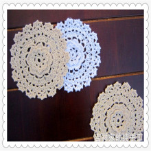 Free shipping 20 pic/lot 3D lace flowers crochet doilies coasters vase mat placemat for dinning table cup pad wedding decoration