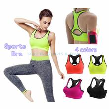 Crop Top Women Fitness Sports Bra Push Up Breathable Yoga Bras Underwear Running Sports Bra L333(China)