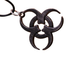 Resident Evil hot sale necklace Movie related products Antique Silver Pendant Rope Chain Biohazard jewelry For Women And Men
