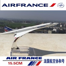 Concorde Air France Diecast Plane Model Airplane 1/400 Scale Diecast Airplane Aircraft Alloy Model Kids Toys Collections Gifts