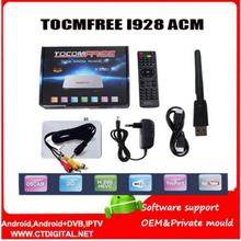 1pc tocomfree acm i928 Receptor satelital with one antena dish de tv satelite for chile brazil iks free for Latin America