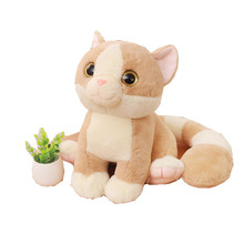 1pc 45cm Kawaii Big Eyes Plush Cat Toys Stuffed Cute Long Tail Cat Toy Doll Kids Children Appease Doll Lovely Gift for Girls