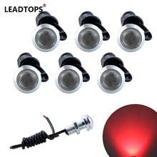 6PCS Led Drl Eagle Eye 23mm waterproof Cob 12v Led Car Light Led Daytime Running Lights For Car Styling Auto Fog Lights CB