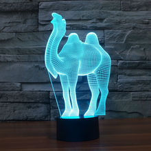 Camel 3D Visual LED Cute Night Lights for Kid Switch Light USB Charger Table Lamps as Besides Lamp Baby Sleeping Night lights