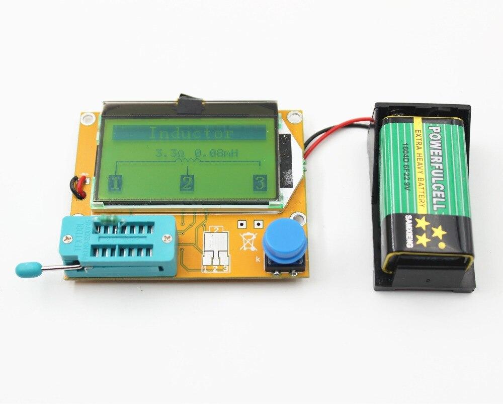 2016 V2.68 ESR-T4 Mega328 Digital Transistor Tester Diode Triode Capacitance ESR Meter MOS/PNP/NPN LCR 12864 LCD screen<br><br>Aliexpress