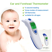 Non-contact Ear & Forehead LCD Digital Infrared Thermometer Baby Adult Body Temperature Monitor CE FDA Approved
