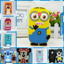 Cute Minions Back Cover Case For Samsung GALAXY Trend Duos S7562 7562 \ Galaxy S Duos 2 S7582 \ Trend Plus S7580 Silicone Cases(China)