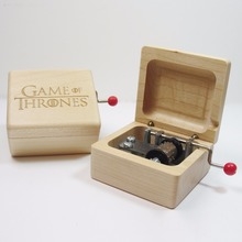Game of Thrones wooden music box special souvenir gift box, birthday gifts free shipping