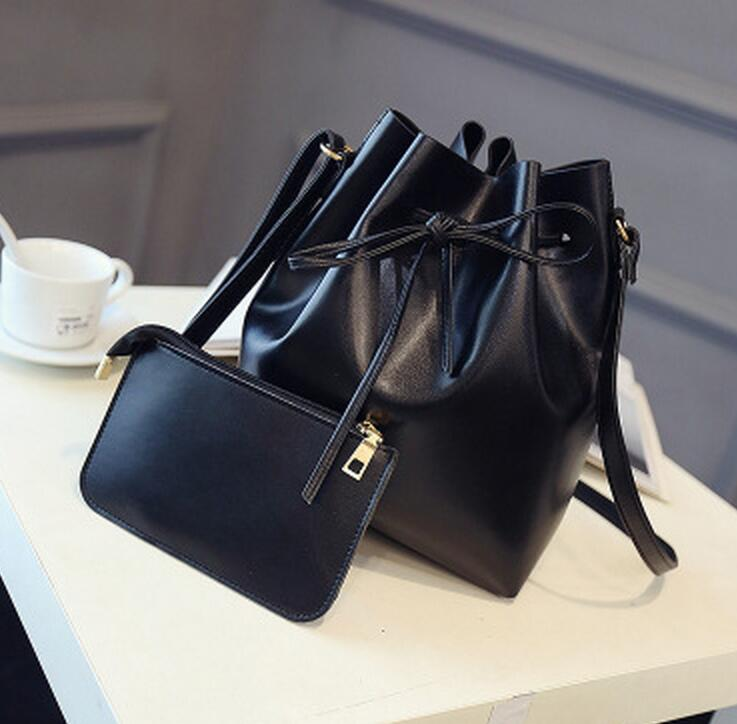 M188 Nuevas Mujeres Character Fashion Water Bucket Big Bag And Small Bag Cand Color Shoulder Bag Big Size Women  Gift Wholesale<br><br>Aliexpress
