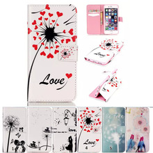Coque Cover For iPhone 5 & 5S Leahter Cases Mobile Phone Case Accessories Flip Stand Wallet Magnetic Car Stand(China)