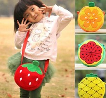 Super Kawaii Fruits 20CM Diameter Baby KID Kindergarten Satchel BAG Plush Satchel Messenger BAG Pack Case Shoulder BAG Pouch(China)