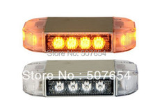 "Free shipping! High quality 8"" DC12V 12W Led Mini lightbar/amber emergency  lightbar/police ambulance fire lightbar,warerproof"