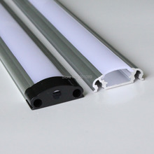 20m (20pcs) a lot, 1m per piece, led aluminum profile for led strips with milky diffuse cover or transparent cover