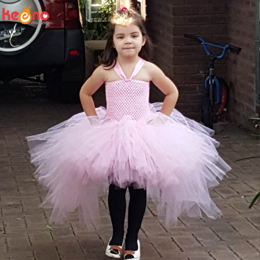 Gorgeous Light Pink Girls Tutu Dress for Photo Shoot Birthday Party Wedding Kids Dress up Costume Pink Fancy Ball Gown (3)