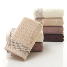 New Fashion 34*76cm Jacquard Cotton Terry Hand Towels,Solid Decorative Embroidered Bathroom Hand Towels,Face Hand Towels