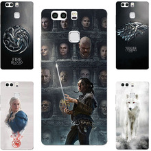 Fashion GOT Game Of Throne House Stark Lannister Targaryen Hard PC Painting Case For Huawei P9 / P9 Plus Cell Phone Printed Bags