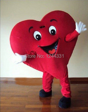 Hot sale red heart shape mascot costume carnival costume fancy dress costumes adult costume custom mascot suit