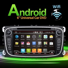 2 Din Android 6.0 Car dvd gps player car stereo radio for Ford Mondeo Focus built in GPS CAMERA PARKING +Wifi+Bluetooth+USB+SD(China)