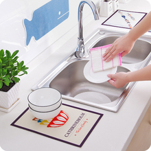 Cartoon KitchenSink Waterproof Stickers Electrostatic Refrigerator Stickers Kitchen Cabinet Decoration Stickers