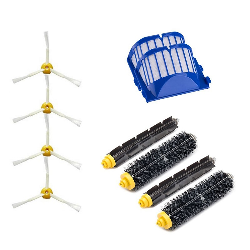 2 Blue AeroVac Filter + 2 set main Brush kit +4 side brush for iRobot Roomba 600 Series 620 630 650 660 accessory Replacment<br><br>Aliexpress