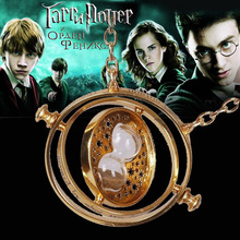 Harry potter necklace time turner necklace hourglass Harry Potter Necklace Pendant Hermione Granger Rotating Spins