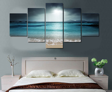 5 Panels Fashion  beach ocean sea sunset Paintings Wall Art 5 Piece Prints Pictures Canvas Painting Home Decor Artwork