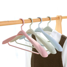 1PC Plastic Clothes Hanger Antiskid 360 Degree Rotatable Seamless Nonslip Drying Rack Thicken For Coat Underwear 44*21cm(China)