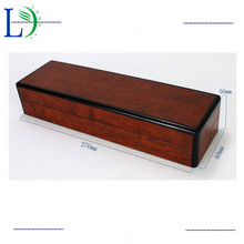High-grade Retangle Solid Wood Box Gift Packaging Wooden Boxes for Wristwatch Jewellery Necklace Pen Gift Storage Case(China)