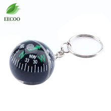 1 Pcs 28mm Ball Compass Keychain Liquid Filled Compass For Hiking Camping Travel Outdoor Survival(China)