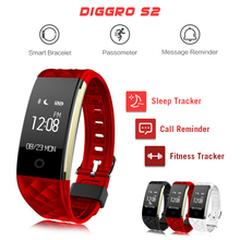Diggro S2 Smart Bracelet Heart Rate Monitor Smart Band Fitness Tracker Sport Tracker Remote Camera Smart Wristband PK miband2
