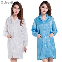 Medical ESD-Safe shield Anti-static Dustproof LAB Smock Clothes Unisex Coats New DAJ9116