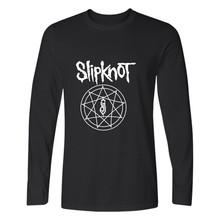New Heavy Metal Slipknot Letter T shirt Printed Mens Tshirt Fashion Brand Long Sleeve Cotton T-shirt Tee Camisetas Hombre 3xl