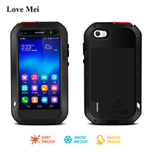 Love Mei Aluminum Waterproof Case For Huawei Honor 6 Cover Fundas Powerful Metal Armor Shockproof Shell Case Huawei Honor 6 Capa