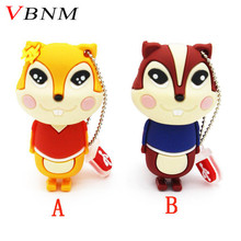 VBNM cute squirrel usb flash drive memory stick pendrive 4gb 8gb 16gb pen drive 32gb memory stick U disk usb 2.0 free shipping(China)