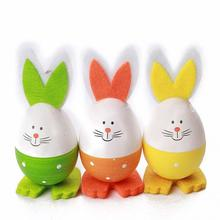 3PCs New Cute Easter Bunny Shape Decoration Rabbit Eggs Rabbit Decoration Hanging Gift Kindergarten Decoration Child 3 Styles