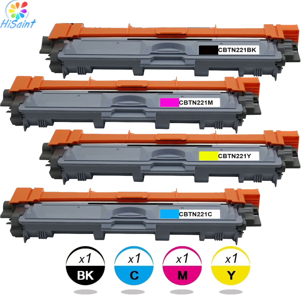 Compatible Toner Cartridge Replacement for Brother TN221BK TN221C TN221M TN221Y Used For HL-3170CDW MFC-9130CW (BK C M Y 4-PK) <br>