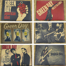 The classic Green Day Green Day Kraft paper, restore ancient ways punk rock old newspaper Wall stickers decoration posters