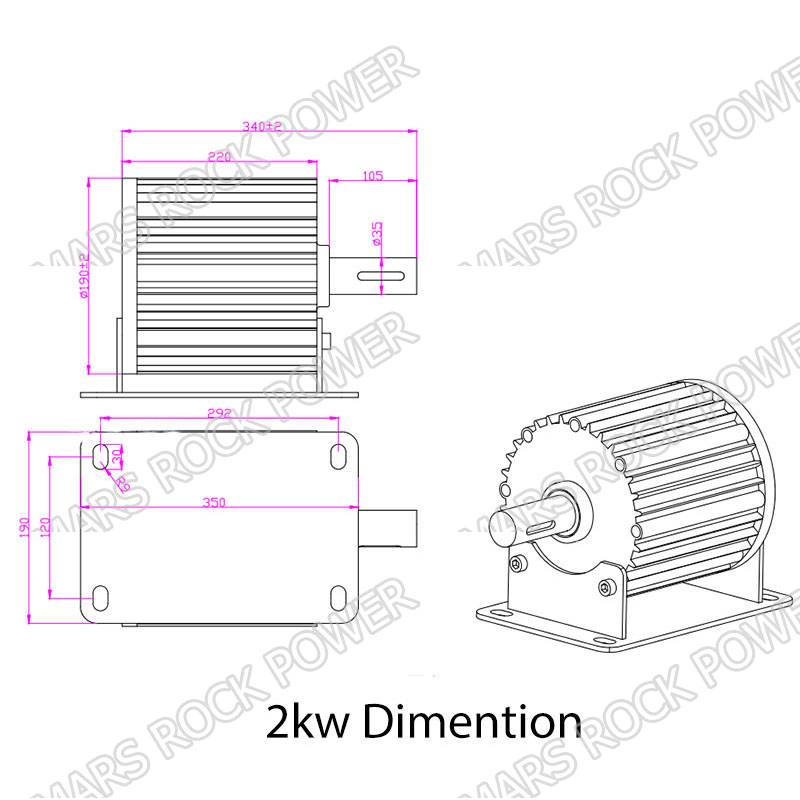 2KW dimention