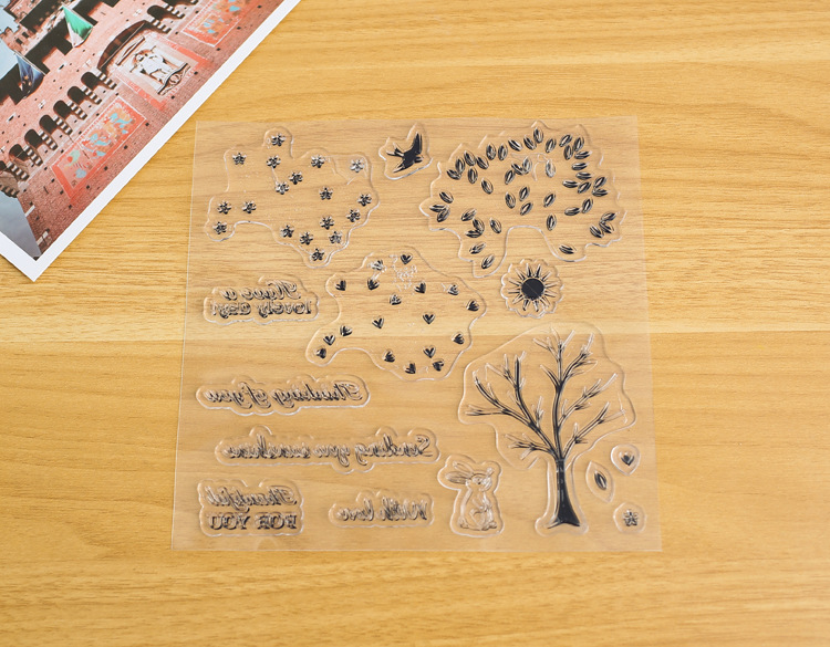 Forest Animal Silicone Transparent Stamp Seal DIY Scrapbooking Album Photo Card Craft Diary Making Christmas Greeting Card Decor