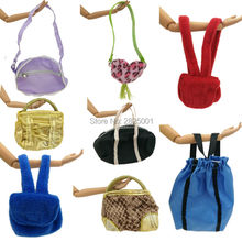 5 Pcs Doll Handbag Girls Ladys Fashion Bags Knapsack Packsack Dollhouse Accessories For Barbie FR Kurhn Doll 1:6 Play House Toys