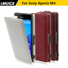 Buy iMUCA Sony Xperia m4 M4 cases covers Vertical Flip Shell Sony Xperia M4 Aqua E2303 E2333 E2353 PU leather Cases Fundas for $6.52 in AliExpress store