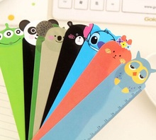 Hot sale sweet design good quality wholesale    Animal Doll series PVC Rulerbookmark15 CM straight ruler .cute lovey school stat