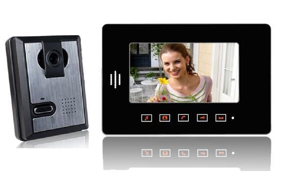 freeship 7 Video Cameras Intercom Night Vision Doorphone Monitor Door viewer Intercom For Home video doorbell <br><br>Aliexpress