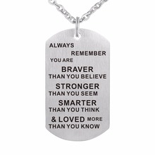 ZMZY 316L Stainless Steel Dog Tag Necklace Classical Fashion Men Necklaces Jewelry Loved Pendants with Chain Keyring DIY