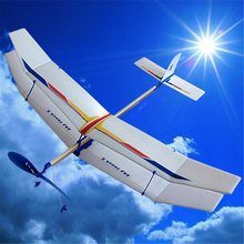 DIY Glider Rubber Elastic Powered Flying Plane Airplane Fun Model Kids Toy Boy's Science Educational Toys Assembly Plane(China)