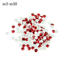 Lt Siam New Wholesale SS3-SS30 Crystal Foild 3D Nail Art Glue On Non-Hotfix Flatback Rhinestones Free Shipping(China)