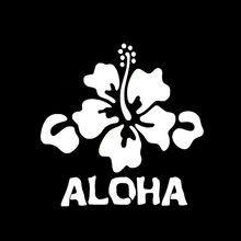 Beautiful Hawaii Hibiscus Flower Art Car Sticker for Motorhome Truck Minicab Motorcycles Laptop Waterproof Vinyl Decal 10 Color(China)