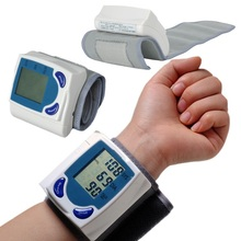 Home Health Gifts Digital LCD Wrist Blood Pressure Monitor Heart Beat Pulse Meter Measure