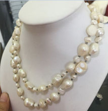 08148 elegant12-13mm south sea natural silver grey pearl necklace(China)