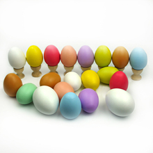 10 pieces Wooden eggs drawing eggs Easter eggs children's day gifts learning and educational products for kids and children-L2(China)